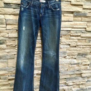 BKE denim jeans, flared bottoms, 27 X 35 1/2